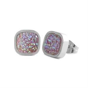 Picture of Pink Faux Druzy Studs